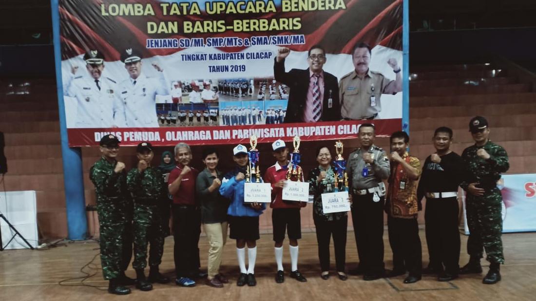 SMP N 3 Maos Binaan Kodim 0703/Cilacap Juara I Lomba TUB- PBB Tingkat Kabupaten Cilacap