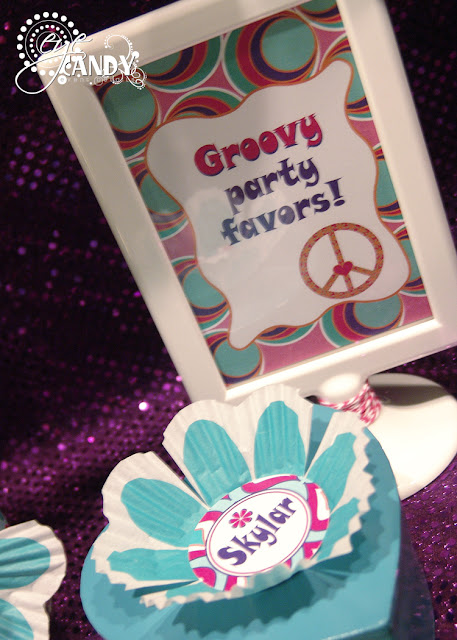 groovy party favors, peace party favors