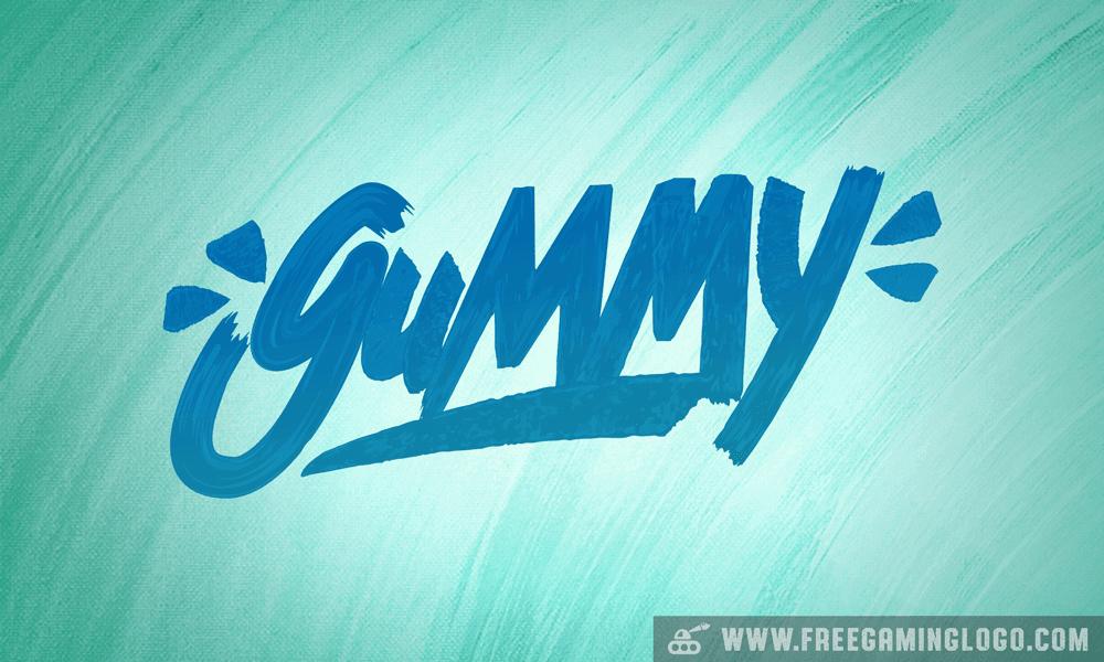 Gummy hand lettering signature design