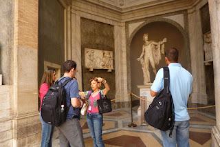 Pátio Octagonal, Museus Vaticanos, Roma , Italia