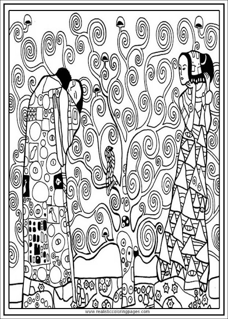 arts of gustav klimt coloring pages for adults