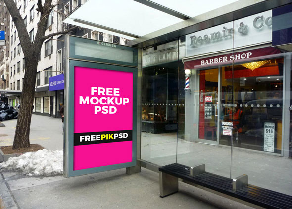 Free Outdoor advertising mock-up