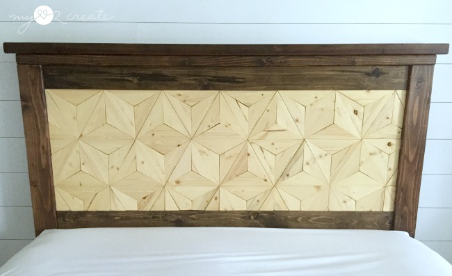 Geometric headboard design