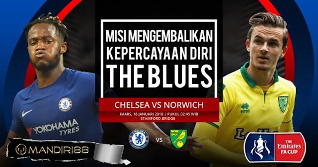 Prediksi Bola Chelsea Vs Norwich City , Kamis 18 January 2018 Pukul 02.45 WIB