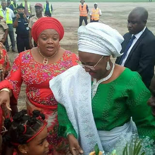 Photos of Aisha Buhari as she arrives Imo State for August Meeting