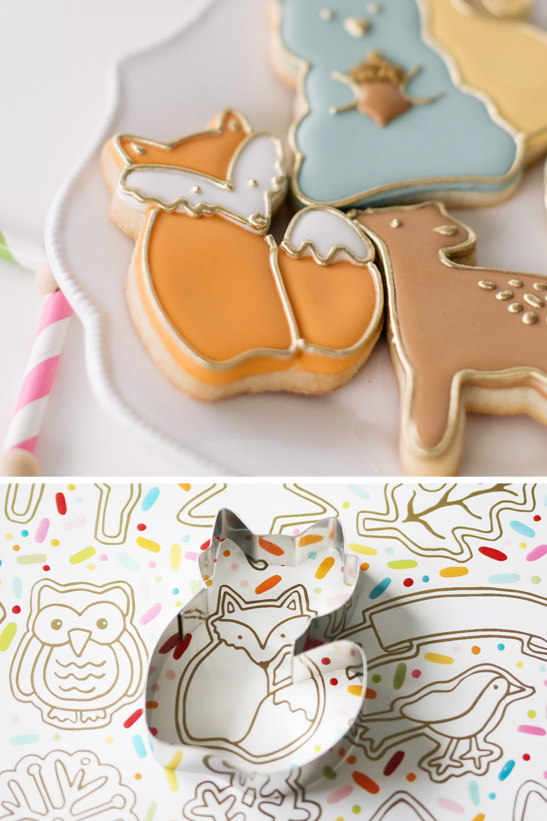 fox cookie by Emma's Sweets using a cookie cutter from How Sweet Is That