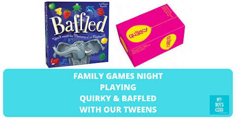 Family Games Night Playing Quirky & Baffled with Our Tweens (REVIEW)