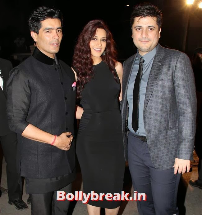 Manish Malhotra, Sonali Bendre and Goldie Behl, Filmfare Awards 2014 Red carpet Images