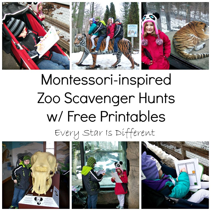Montessori-inspired Zoo Scavenger Hunts