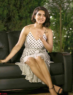 Samantha Ruth Prabhu looks super cute in a deep neck sleeveless short dress ~ Exclusive 002
