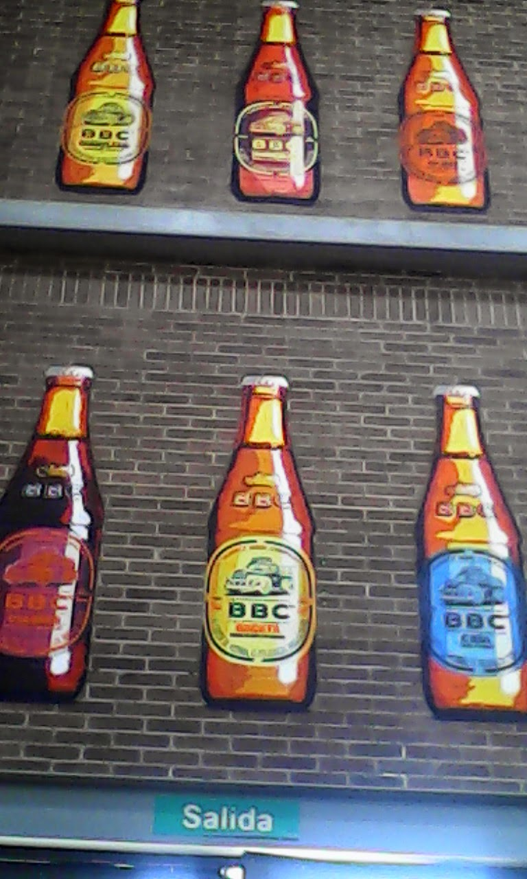 The entrance to the Bogotá Beer Company factory outside Bogotá, Colombia.