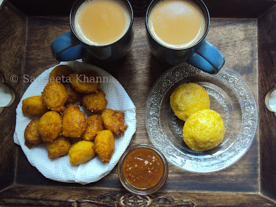 fresh corn pakoda and fresh corn idli