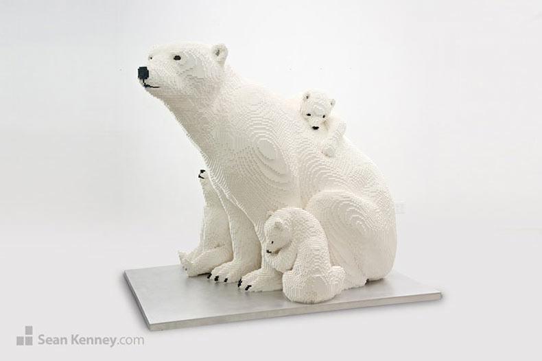 Estas esculturas de animales hechos de LEGO son realmente impresionantes!