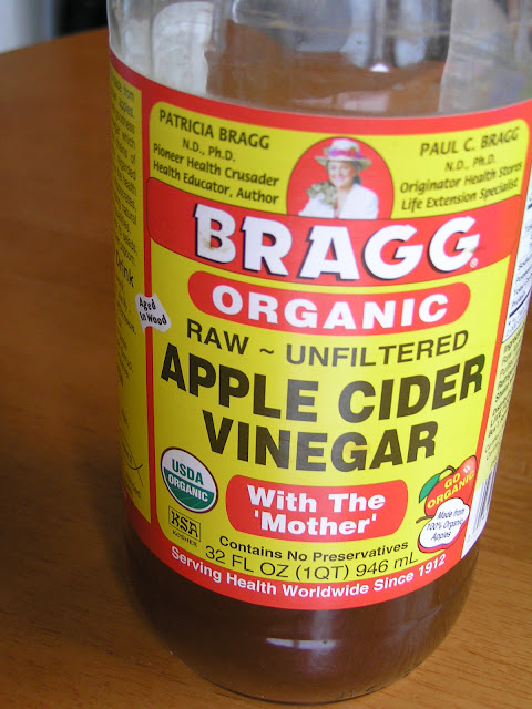 ACV apple cider vinegar for hair