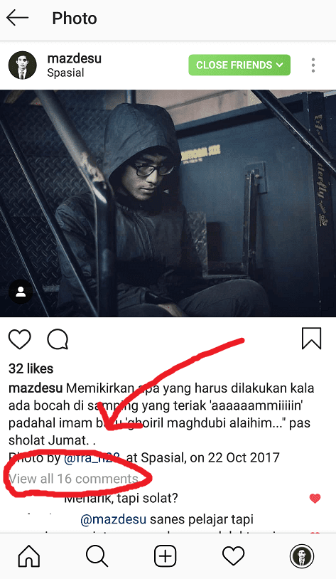 Buka Kolom Komentar Instagram