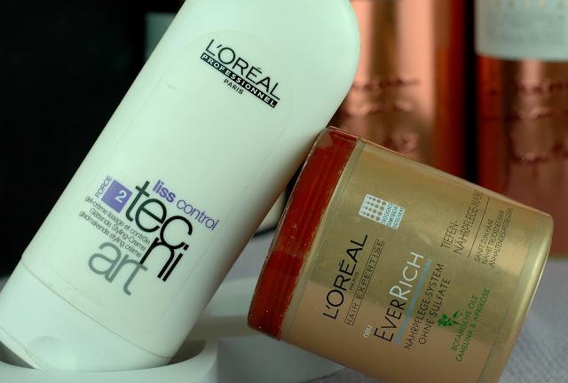 Februar Favoriten - L'Oréal Professional Liss Control Styling Creme und L'Oréal Paris Ever Rich Tiefen Nährpflege Maske