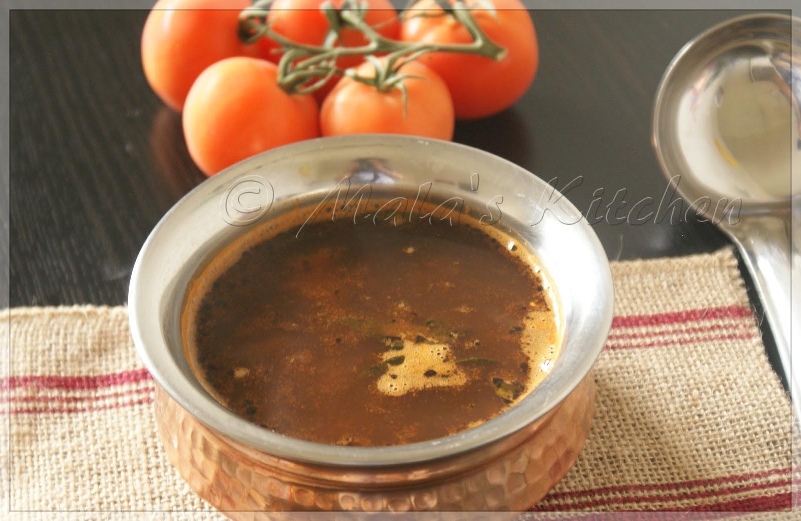 Tomato Rasam Hebbar S Kitchen