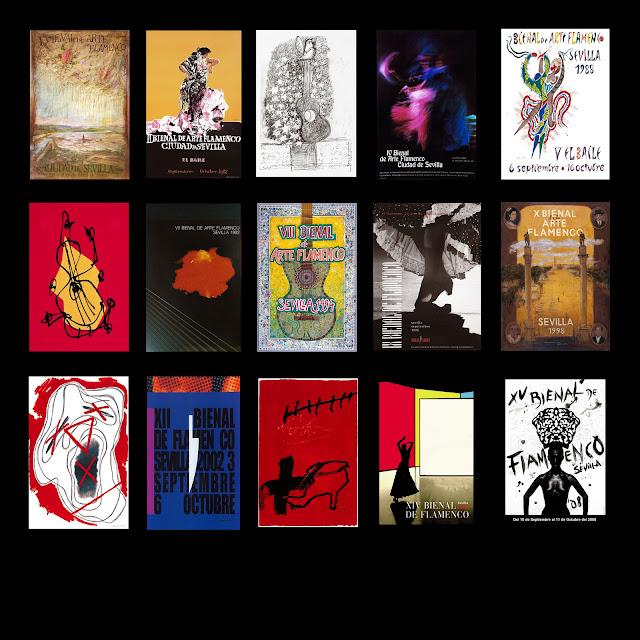 Carteles de la Bienal de Arte Flamenco Ciudad de Sevilla