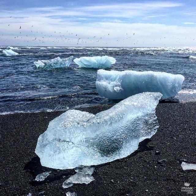 Playa diamante en Islandia