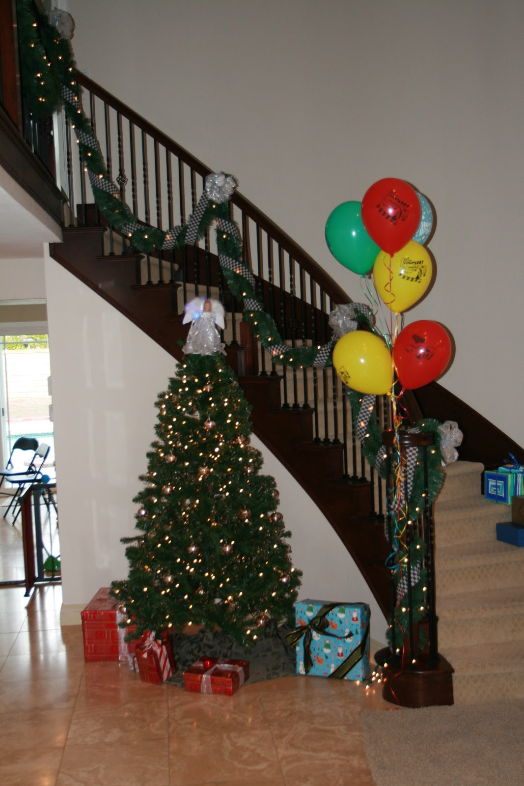 Christmas Themed 1st Birthday Party.Cars Themed 1st Birthday Party