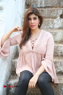 Telugu Actress Aditi Singh Stills in Leather Pants at Nenu Kidnap Iyanu Movie Press Meet  0129.JPG