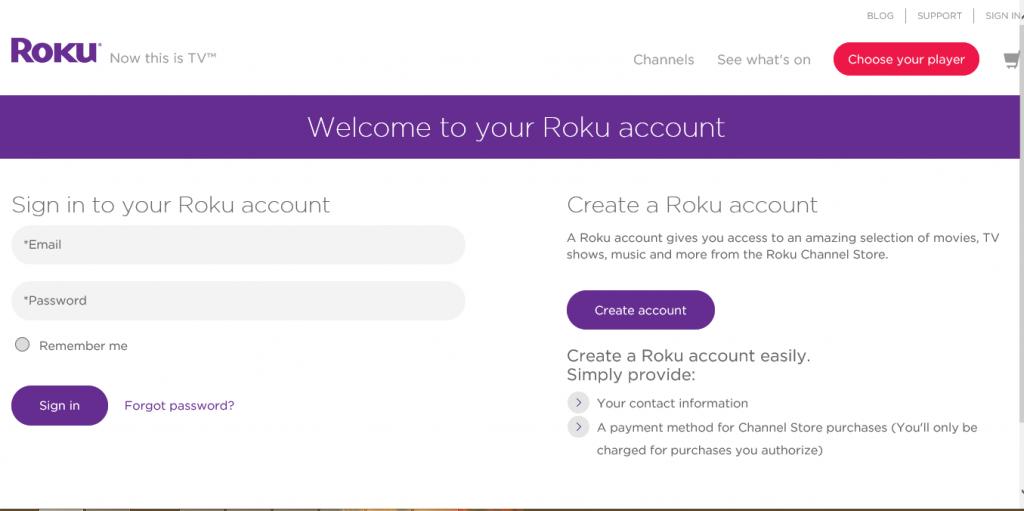 How to Setup your Roku Account