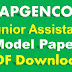 APGENCO Junior Assistant Model Paper PDF Download GENCO Syllabus