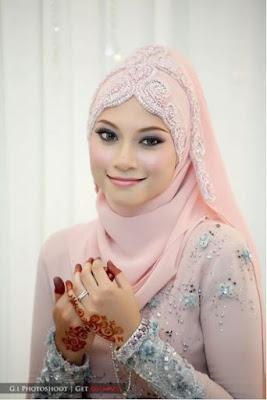 Model Hijab Pernikahan Untuk Kebaya