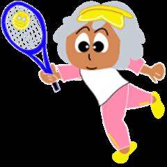 Tennis love grandma