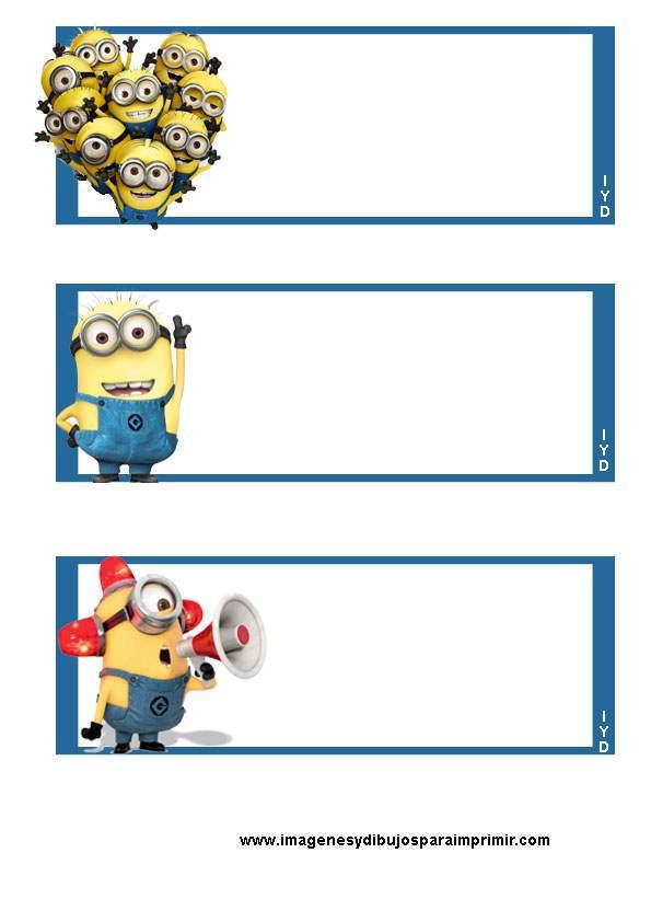 Etiquetas de minions para imprimir imagenes y dibujos - Pegatinas pared infantiles disney ...
