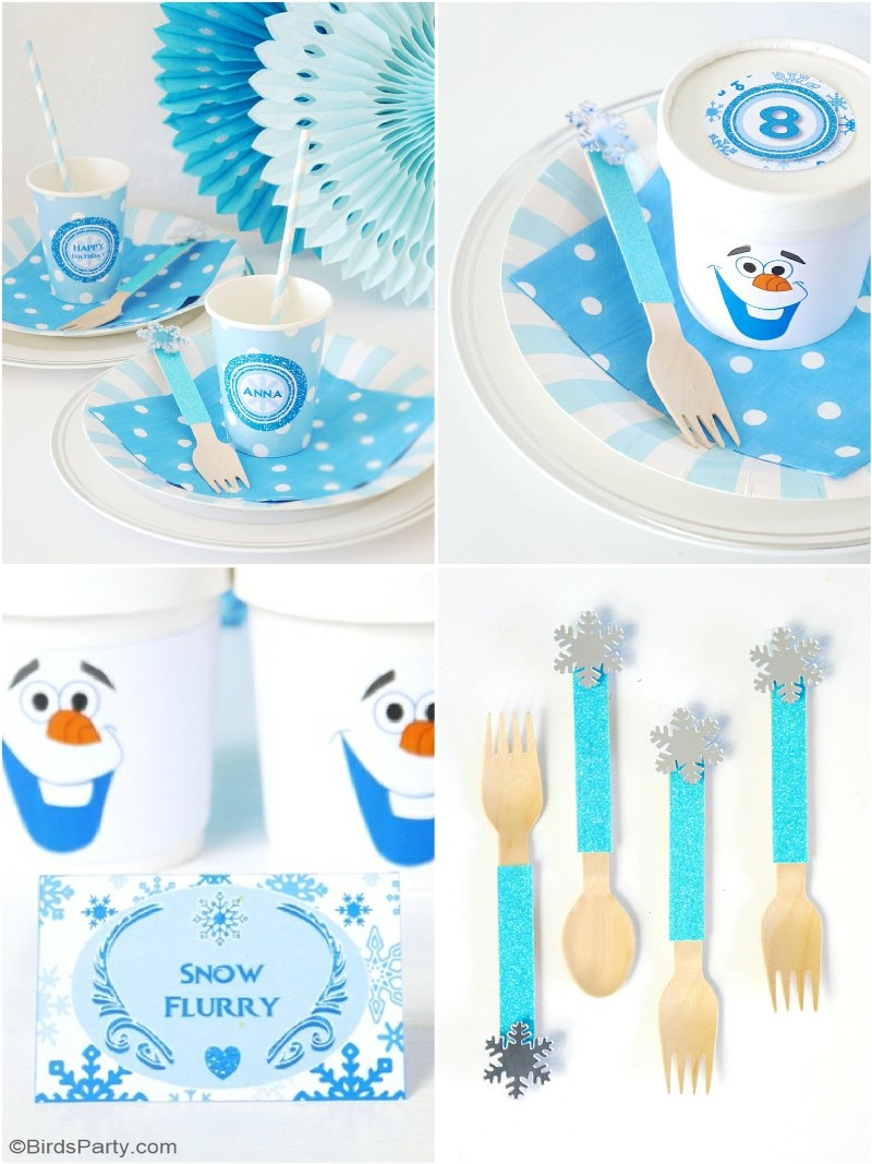 A Frozen Inspired Cupcake Fondue & Free Printables - Party
