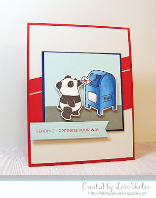Sending Happiness Your Way card-designed by Lori Tecler/Inking Aloud-stamps from Mama Elephant