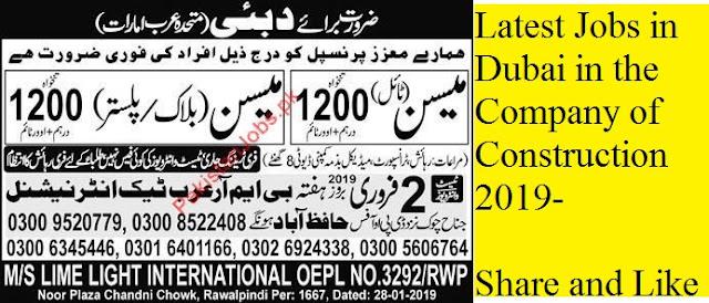 Latest Jobs in Dubai for Pakistan 2019 by ThalJobs