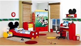 Desain Kamar Anak Tema Mickey Mouse Yang Cantik