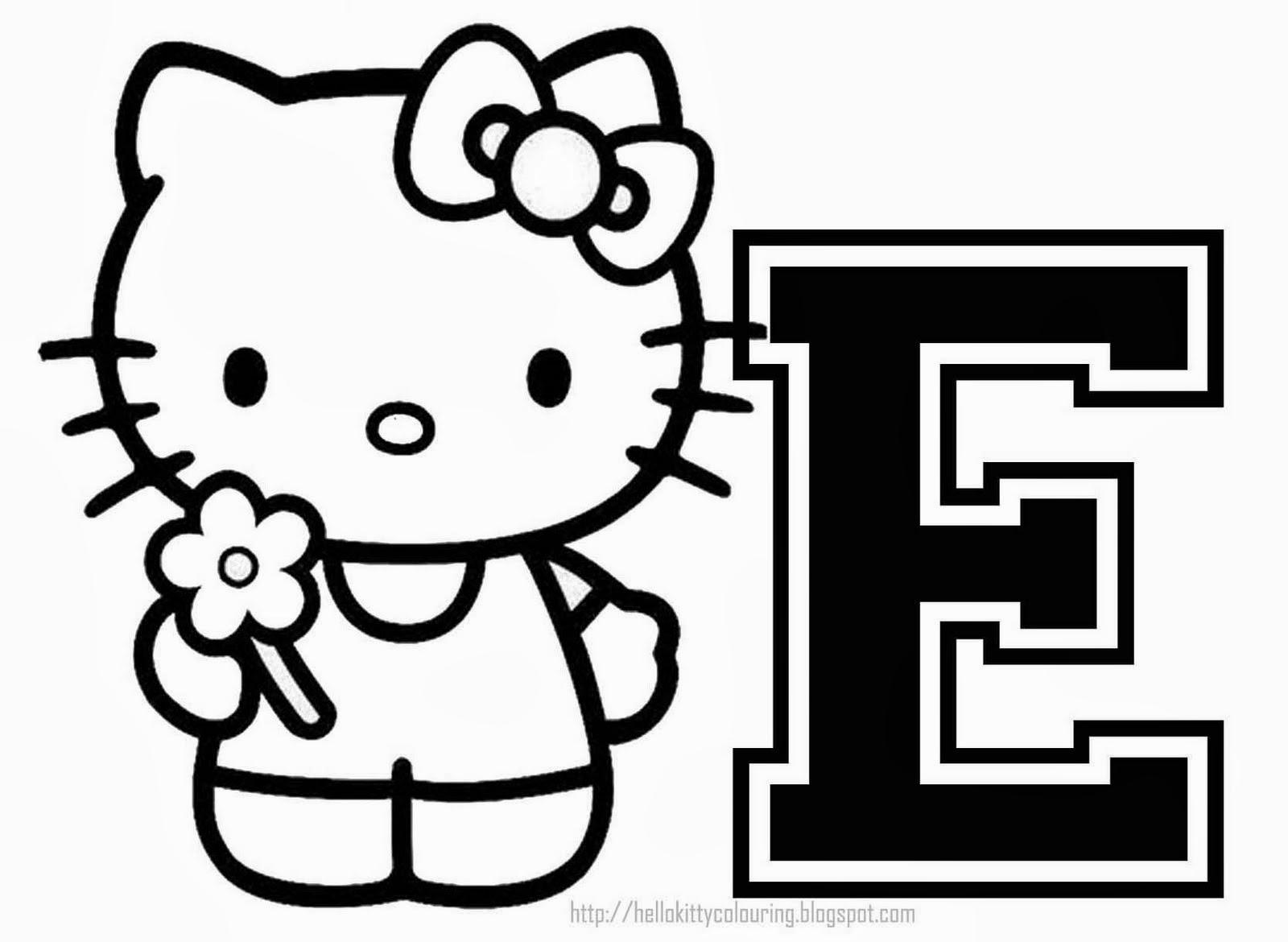 Alfabeto de Hello Kitty para Colorear. | Oh my Alfabetos!