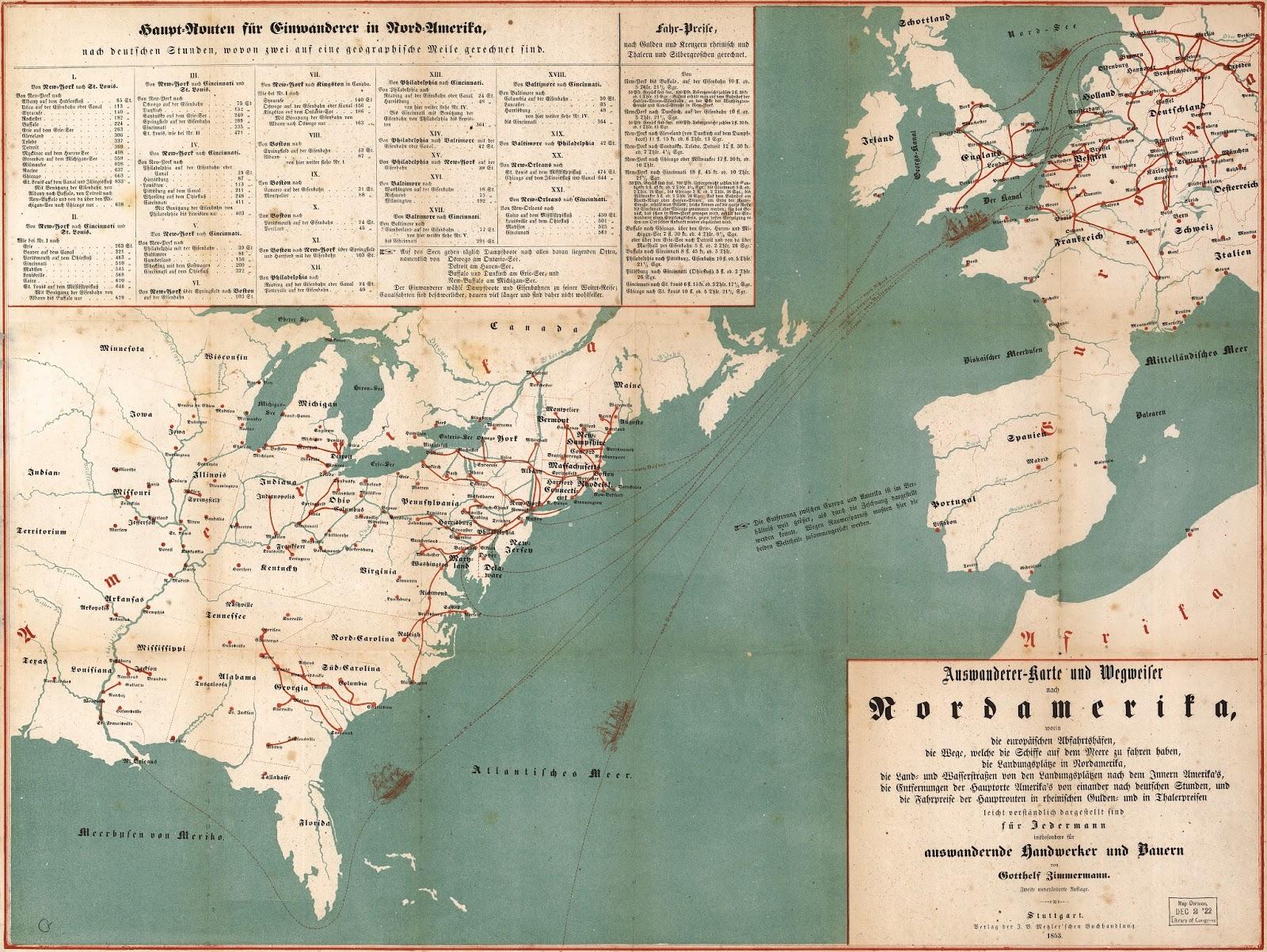 german immigrants to north america 1853 click to make bigger