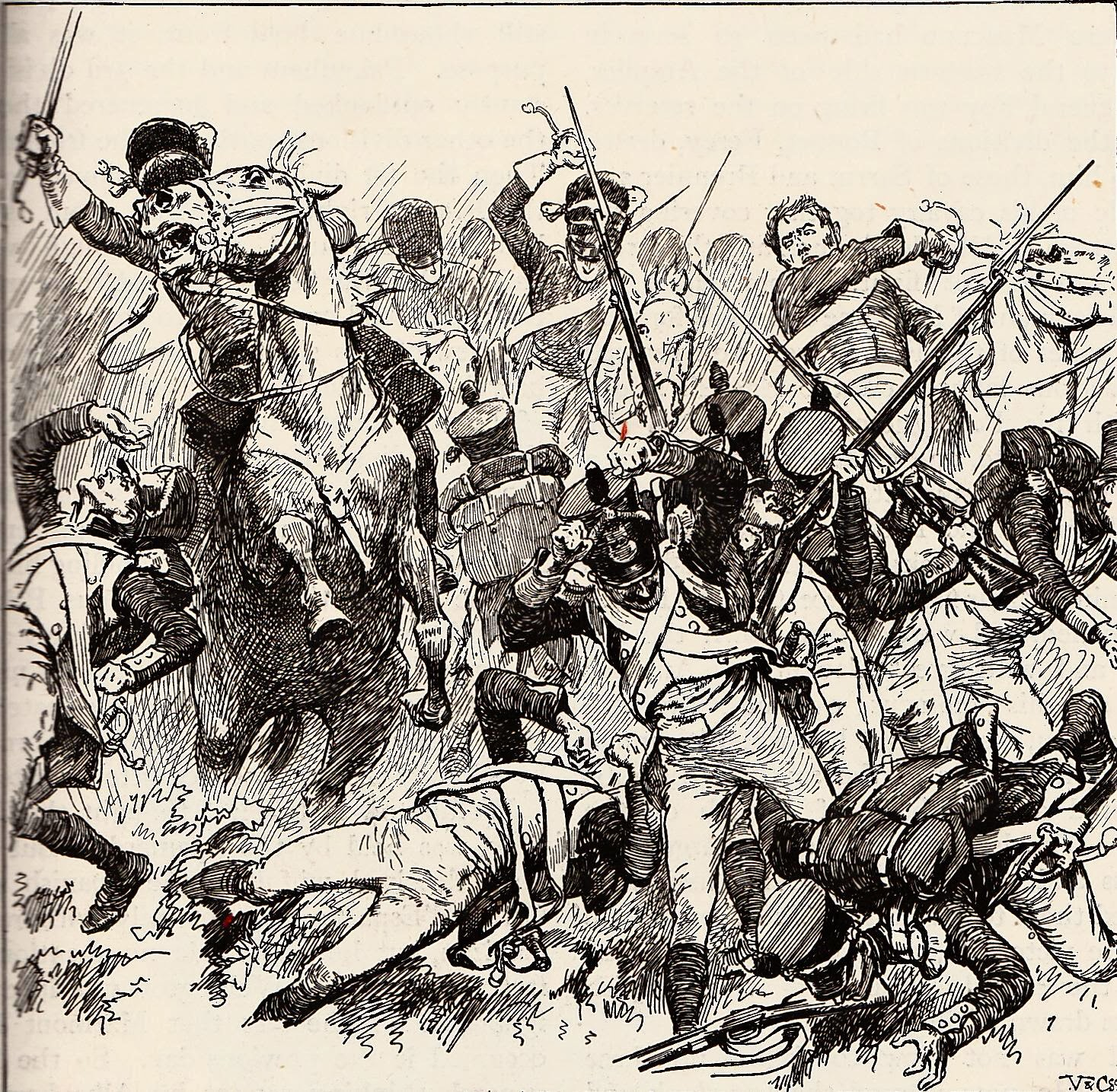 "British heavy cavalry charging at Salamanca. """