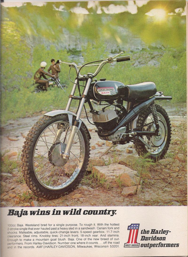 motorcycle harley ads davidson magazine ad bike baja dirt motocross motoblogn 100cc amf motorcycles indian advertisement american 1970 deviantart megatron