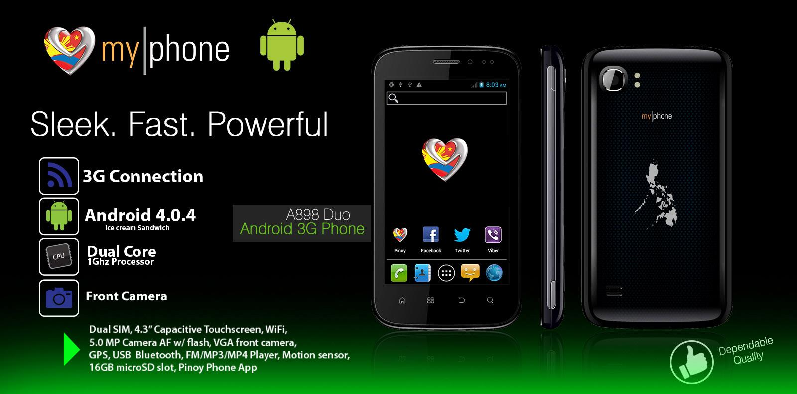 MyPhone A898 DUO Android 3G Phone