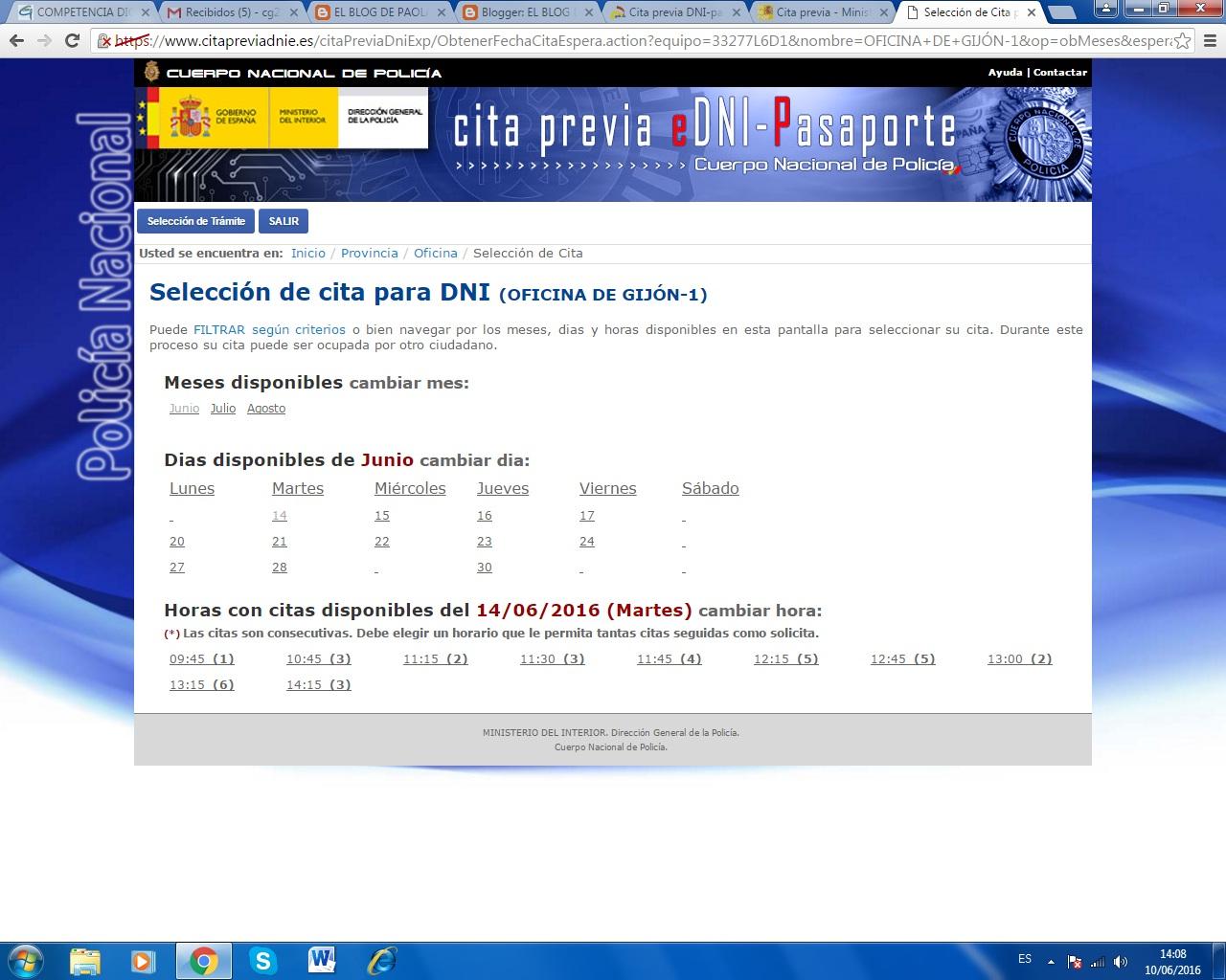 El blog de paola centeno 11 cita para renovar el dni - Ministerio del interior renovacion dni ...