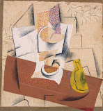 Composition with a Sliced Pear by Pablo Picasso - Abstract Art, Still Life Drawings from Hermitage Museum