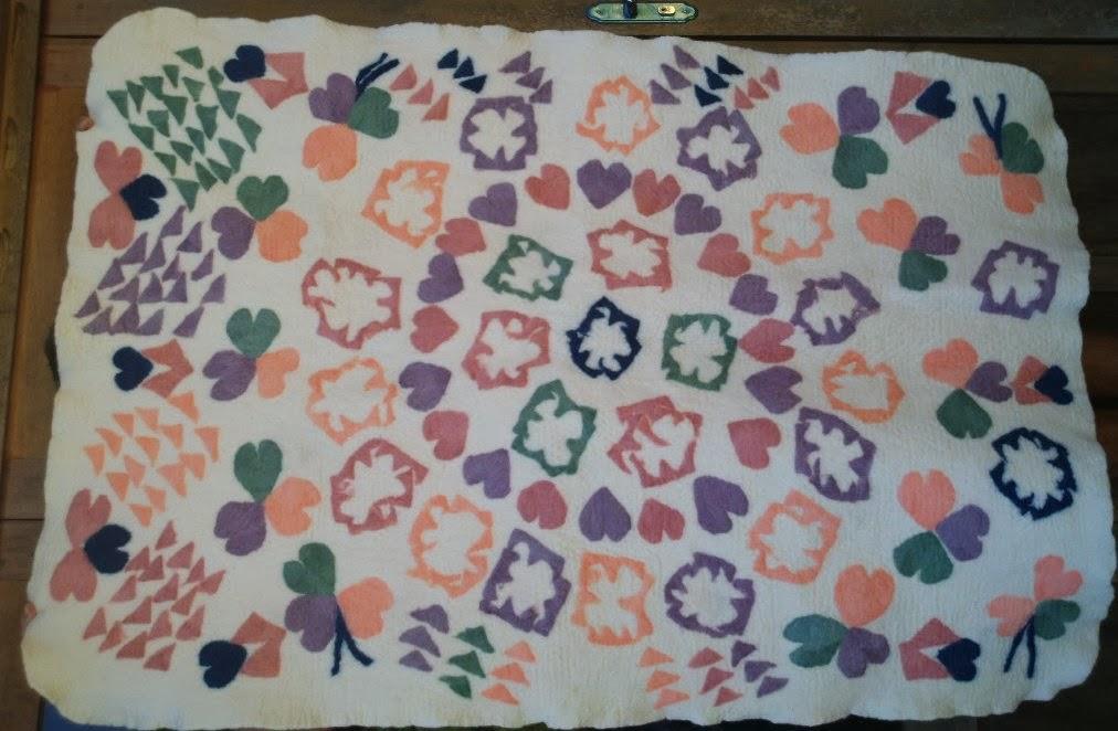 cobertor infantil feltrado com flores