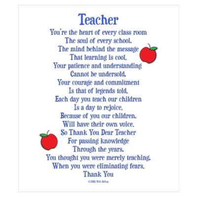 Thank You Poems for Teachers