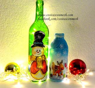 botellas-navideñas