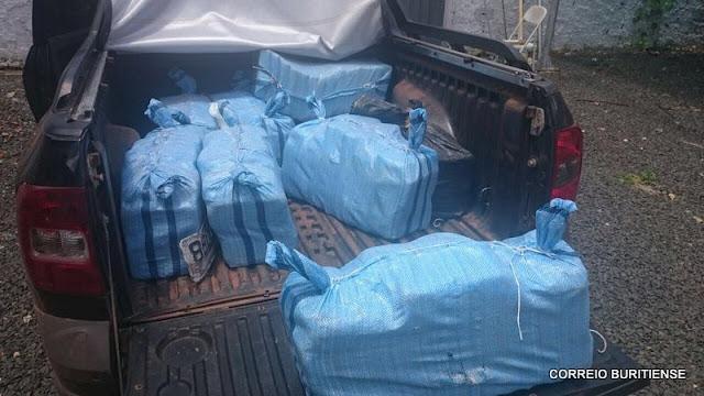 PF apreende 300 kg de cocaína em dentro de um saveiro, em Presidente Dutra (MA)