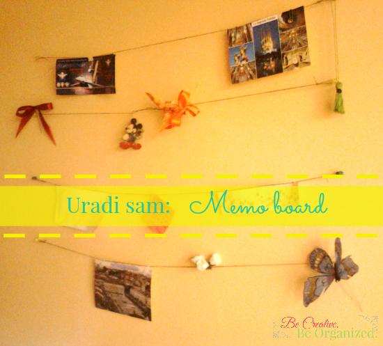 Uradi sam: Memo board od kanapa