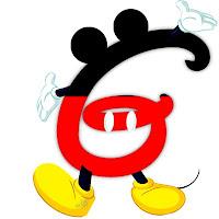 Original alfabeto inspirado en Mickey Mouse G.