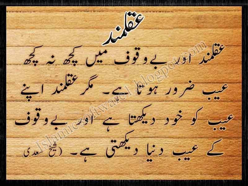 Wisdom Quotes and Sayings | knowledge quotes in urdu ...