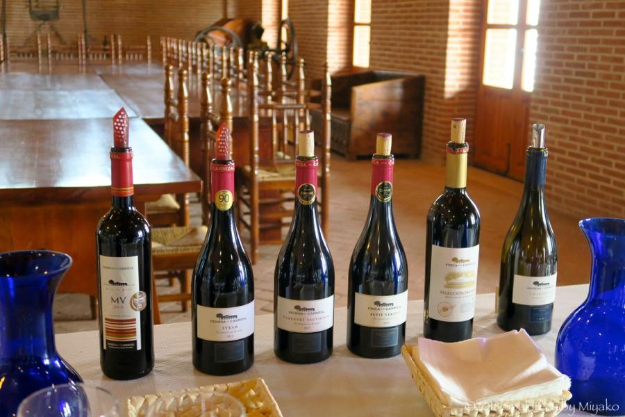 Dehesa del Carrizal スペインのデエサ·デ·カリサルにてワインの試飲