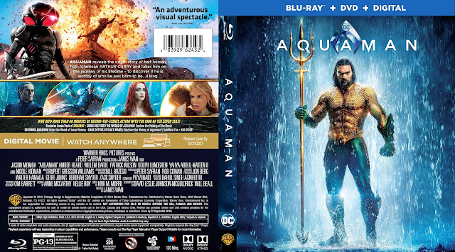 Aquaman Bluray Cover